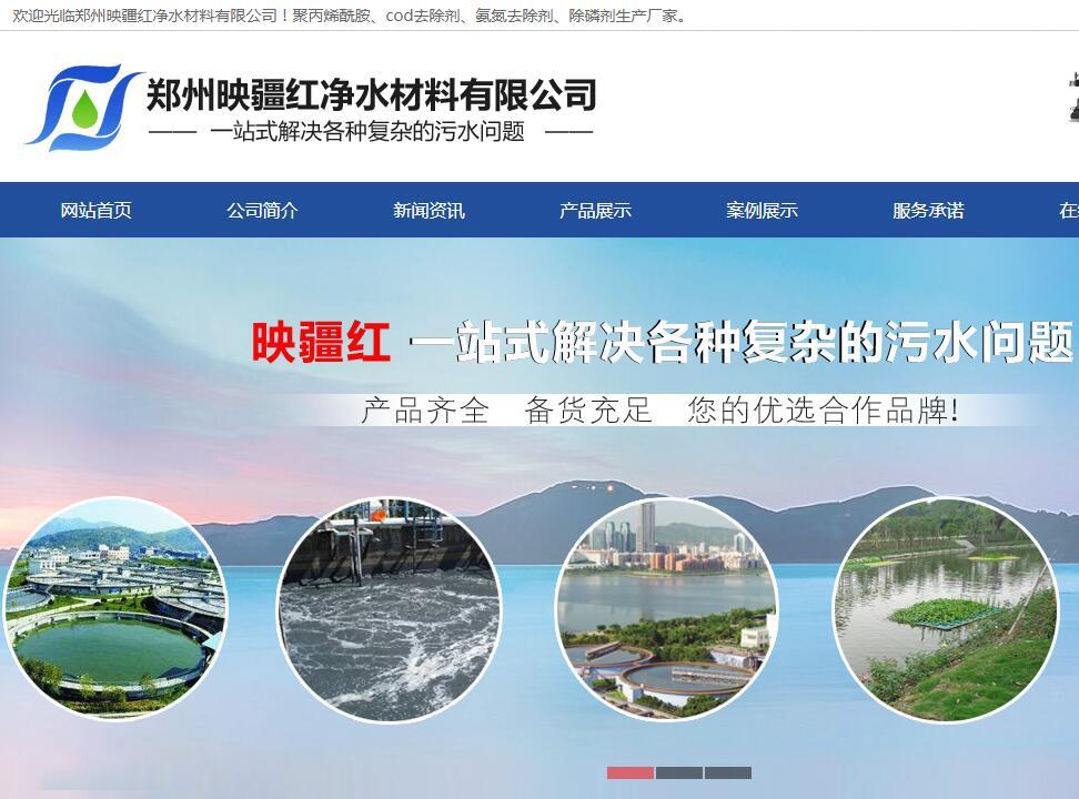 郑州网站建设案例--映僵红净水